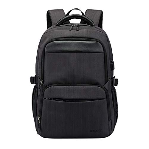 Kangma Business Laptop Backpack with USB Charging Port for Men and Women, Casual Hiking Travel Daypack Double Padded Compartments Computer Bookbag