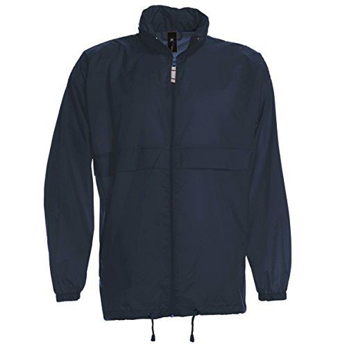 B&C Sirocco Mens Lightweight Jacket / Mens Outer Jackets (XXL) (Navy Blue) (Blue Jackets Us Navy)