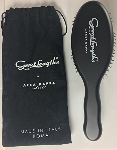 Great Lengths Oval Paddle Brush by ACCA KAPPA Made in Italy Wood and Boar Bristle