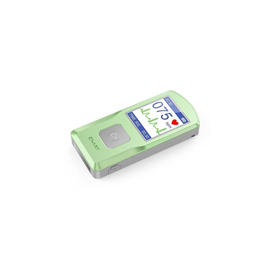 EMAY Handheld EKG Monitor (EMG 10) | Helps Detect Cardiac Abnormalities Anytime, Anywhere
