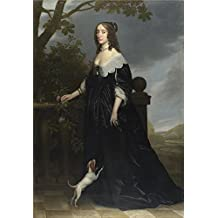 'Gerrit Van Honthorst Elizabeth Stuart Queen Of Bohemia ' Oil Painting, 24 X 35 Inch / 61 X 88 Cm ,printed On Perfect Effect Canvas ,this Best Price Art Decorative Prints On Canvas Is Perfectly Suitalbe For Home Theater Artwork And Home Gallery Art And Gifts