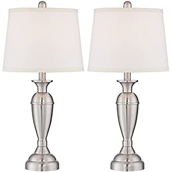 Blair brushed steel metal table lamp set of 2 amazon blair brushed steel metal table lamp set of 2 aloadofball Gallery