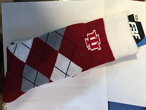 Indiana University Watch - Indiana Hoosiers For Bare Feet Argyle Crew Socks