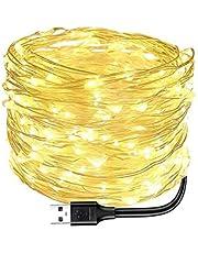 Newooh Cordão de luzes alimentadas por USB, luzes de fim de ano, cordão de luzes para festa, casamento, festival, quarto, decoração de mesa