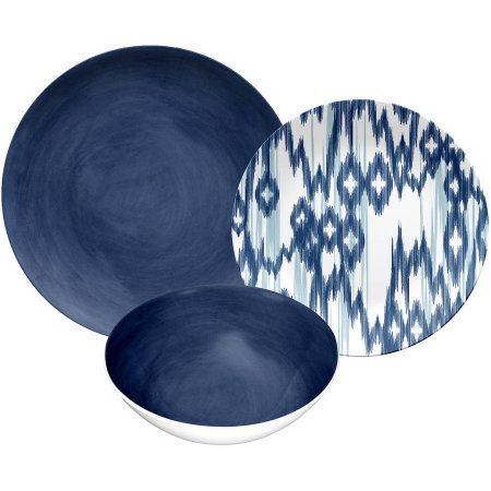 Navy Glaze 12pc Dinnerware -