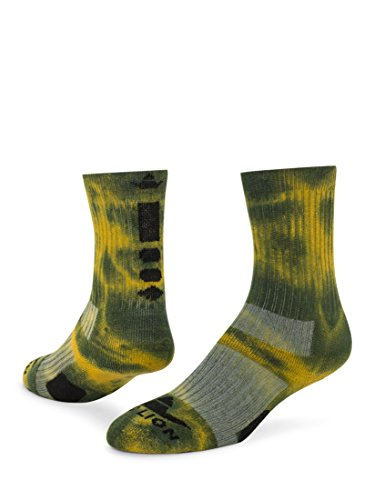 Red Lion Maxim Crew Sock (Kelly Green/Gold - Large)