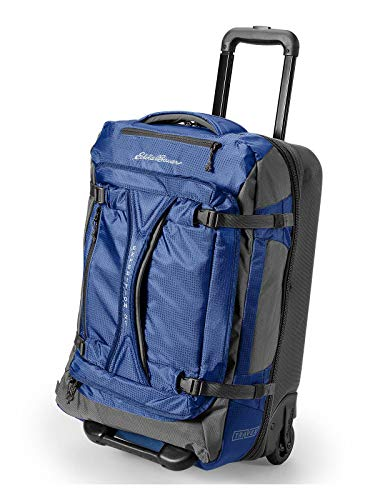 Eddie Bauer Unisex-Adult Expedition Drop Bottom Rolling Duffel - Medium, Sapphir