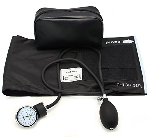 Thigh Blood Pressure - LotFancy Aneroid Sphygmomanometer, Manual Blood Pressure Monitor with Zipper Case, Thigh Size Cuff (16-26