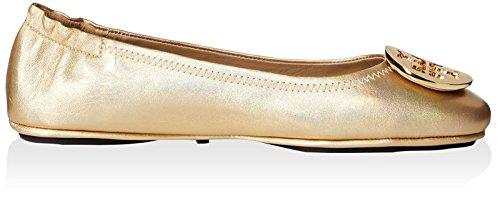 Tory Burch Kvinners Minnie Reise Ballett Logo Flat Gull