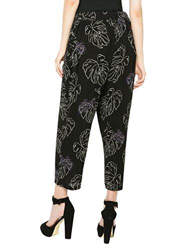 Desigual Elvi - Pantalones Mujer Negro