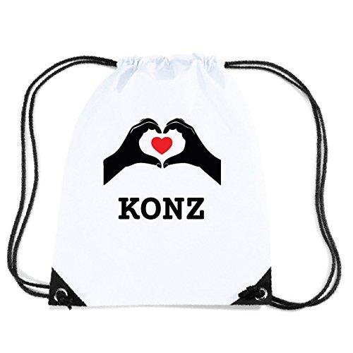 JOllify KONZ Turnbeutel Tasche GYM1714 Design: Hände Herz