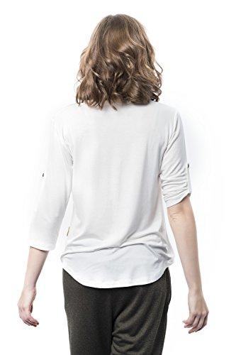 Mamatayoe white Mujer Para Romero Camisa Blanco w0wvHTB