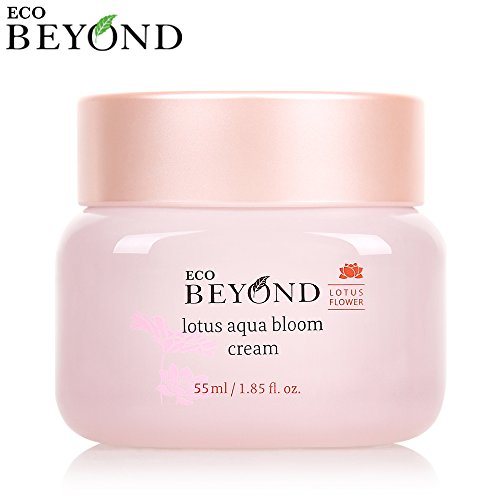 Eco Beyond Lotus Aqua Bloom Cream - Hyaluronic Acid Moisturizer To Help With Skin Elasticity and Facial Firming - Purifies, Smooths, Soothes, and Exfoliates - 55mL/1.86Oz