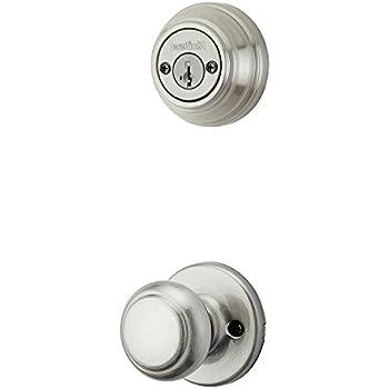 Kwikset 967CA-15SGC Circa Interior Double Cylinder Handleset Trim Smart Key Satin Nickel Finish with New Chassis