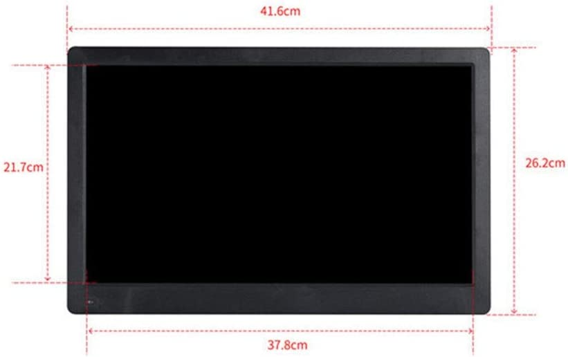 Color : Black Yuybei Digital Picture Frames Large Screen 17.3 Inch Digital Photo Frame 19201080 Pixels 1080P HD Video Playback IPS Screen USB and SD Card Slots