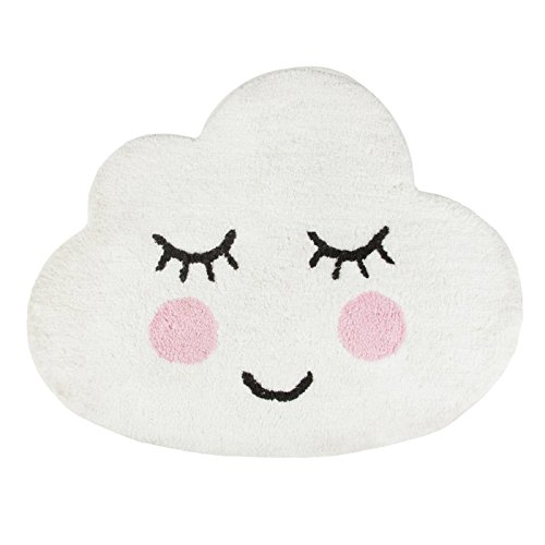 Sass and Belle SWEET DREAMS SMILING CLOUD RUG (QUIN004) (Cloud Shaped Rug)