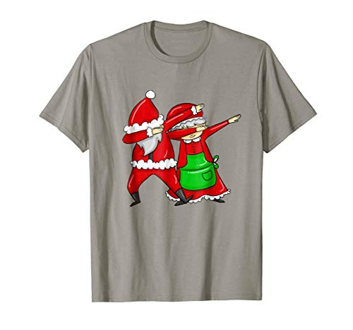 Mr. and Mrs. Santa Clause Do the Dab Dabbing T-shirt ()
