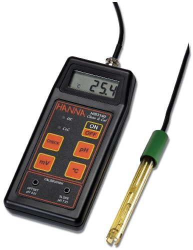 Hanna Instruments HI 8314 Portable Analog pH/ORP/Temperature Meter, with Pre-Amplified pH Electrode - Amplified Orp Electrode