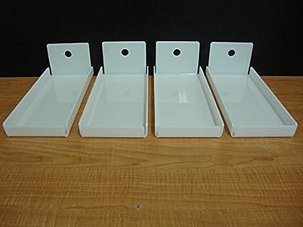 4 bandejas de acrílico blanco pan Donut Bagels cookware company Cupcake Pastelería Panadería almacenamiento pantalla caso