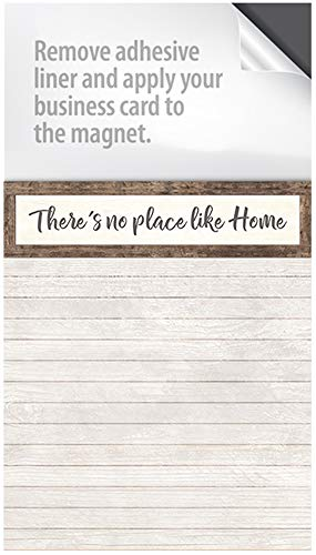 - Magnet Notepads - with a Peel and Stick Area for Your Business Card! (Box of 50 Notepads) (No Place Like Home)