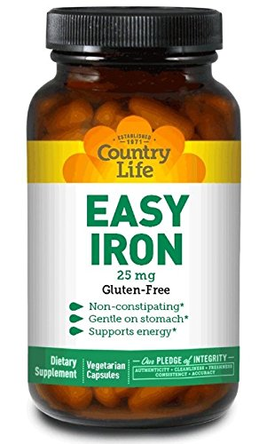Country Life - Easy Iron, 25 mg - 90 Vegetarian Capsules