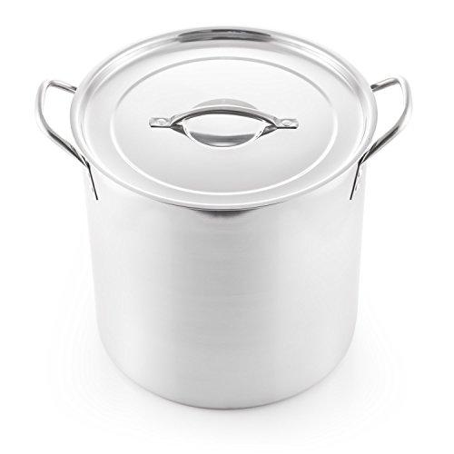 McSunley 609 Medium Stainless Steel Prep N Cook Stockpot, 20 quart, (Stainless Steel Pot Gallon)