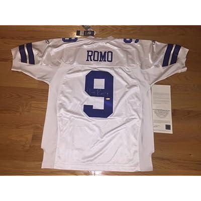 pretty nice 89ca1 dbc66 Tony Romo Autograph Signed Authentic Cowboys White Reebok On ...