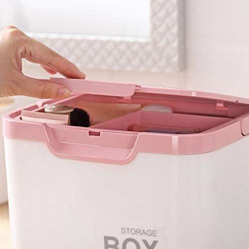家庭用薬ボックス 救急箱 薬ケース 整理ポーチ 収納ケース 応急ボックス 薬収納 薬 くすり 小物入れ アクセサリー 化粧箱 口紅 仕切り 引き出し付き 道具箱 収納ボックス 25*20*20cm ピンク ブルー