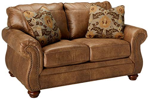 - Ashley Furniture Signature Design - Larkinhurst Contemporary Loveseat - Earth