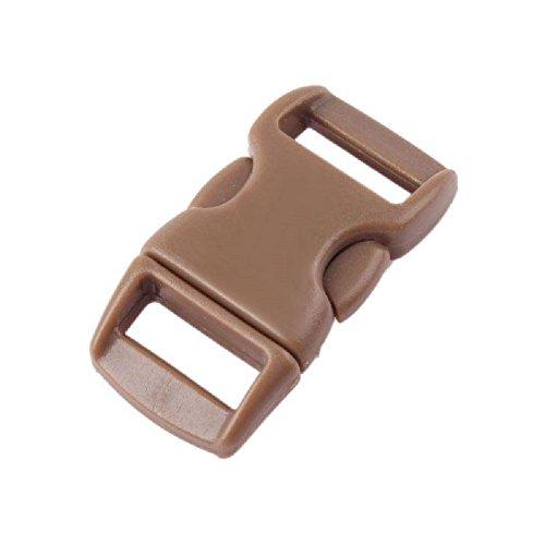 TR.OD Plastic Buckles Hook Hanger Lock Cord Belt Bracelet DIY Craft Clasp Release Set of 10 Brown