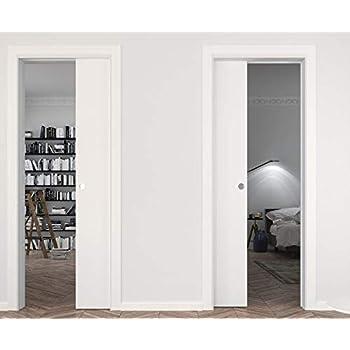 Sliding Pocket Door 28 X 80 Inches Planum 0010 White Silk Pocket