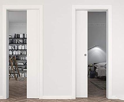 Etonnant Sliding Pocket Door 28 X 80 Inches | Planum 0010 White Silk | Pocket Frame  Trims