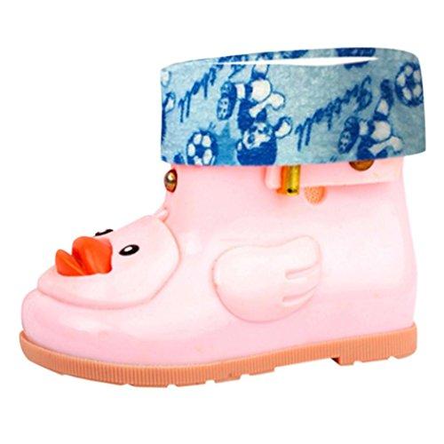 Voberry@@@@@@@@@@@@@@@@@@@@@@@@ Cartoon Duck Waterproof Rain Boots for Toddler Kids Anti Slip Buckle Baby Rain Shoes