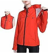 BALEAF Women's Winter Cycling Running Jackets Waterproof Removable Sleeves Vest Rain Windbreaker ...