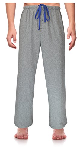 Mens Tall Bottoms (RK Classical Sleepwear Men's Knit Pajama Pants, Size XX-Large Grey Heather (K0161) XX-Large)