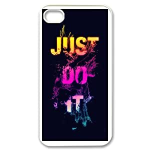 DIY Printed just do it hard plastic case skin cover For iPhone 4,4S SNQ873374