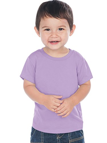 Kavio! Unisex Infants Crew Neck Short Sleeve Tee (Same IJC0432) Lavender 18M
