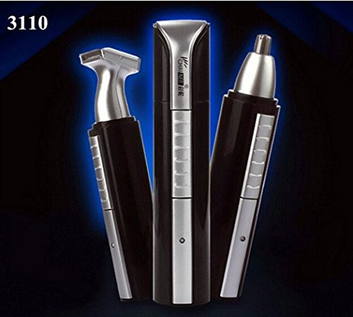 2 in 1 Electric Hair Trimmer Nose Ear Eyebrow Clipper Cleaner Beard Shaver by Abcstore99