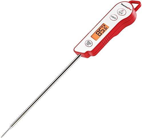 Luz de fondo de calibración de lectura Instant termómetros de carne con Sonda Larga Impermeable