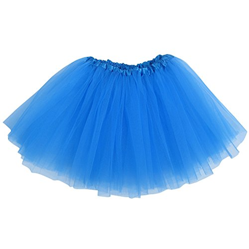 Ballerina Basic Girls Dance Dress-Up Princess Fairy Costume Dance Recital Tutu (Neon (Dancing Queen Costume Child)