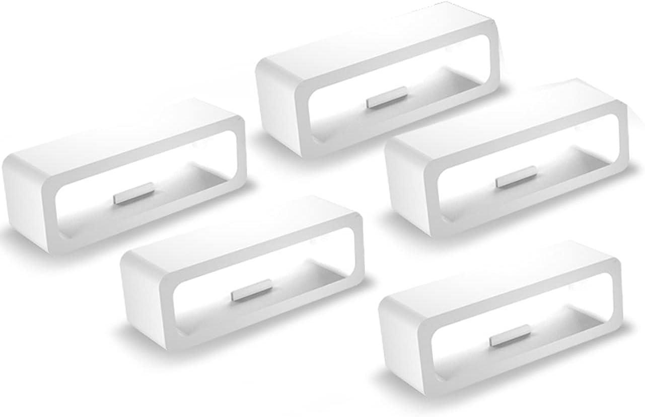 Shieranlee Reemplazo Anillos Seguros Compatible con Huawei TalkBand B6 Correa Silicona Conector Guardianes Cierre Anillo Bucle de Soportes para Huawei TalkBand B6 Smartwatch