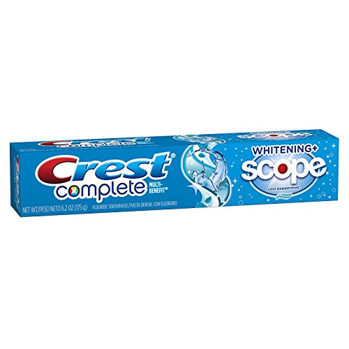 (Crest, Complete, Whitening + Scope, Cool Peppermint Toothpaste, 6.2oz Tube (Pack of 3))