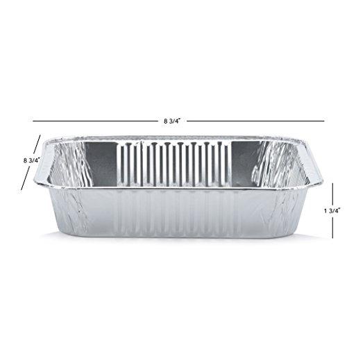 "DOBI Square Cake Pans - Disposable Aluminum Foil Baking Pans, Standard Size - 9"" X 1.75"" (Pack of 30)"