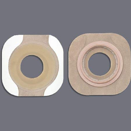 Colostomy Barrier New Image Flextend Pre-Cut, Tape 1-3/4'' Flange Green Code Hydrocolloid 1-1/4'' (#14706, Sold Per Box) by New Image