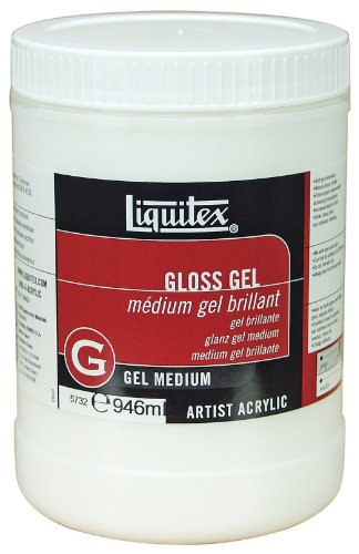 Medium 32 Ounce Jar (Liquitex Professional Gloss Gel Medium, 32-oz)