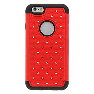 Mini - 2 in 1 Design Starry Sky Pattern Silicone+PC Cover for iPhone 6 , Color-Black