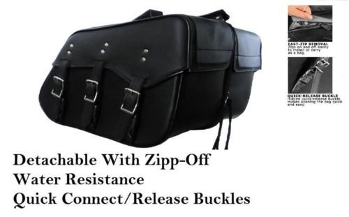Harley Dyna Quick Release (Saddlebags harley dyna models quick release zip off new)