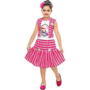 Krishna Cotton Top and Skirt Set for Girls
