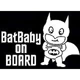 Batbaby On Board Batman Die Cut Vinyl Car & Truck Decal, Window Sticker