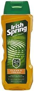 Irish Spring Body Wash, Clear and Fresh Skin, 15 Ounce